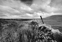 Ribblehead viaduct in black and white