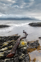 The Isle of Arran from Kintyre Peninsular Scotland