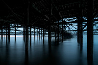 Underneath the North pier Blackpool