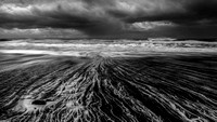 Vic beach Iceland in black and white