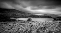 Loch Stack, Sutherland Scotland in black and white